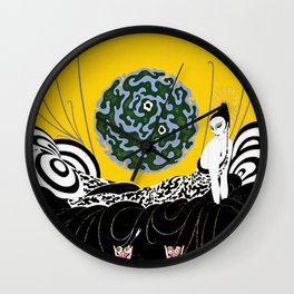 """Art Deco Design """"Selection of the Heart"""" by Erté Wall Clock"""