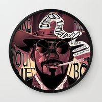 django Wall Clocks featuring Django Poster by eos vector