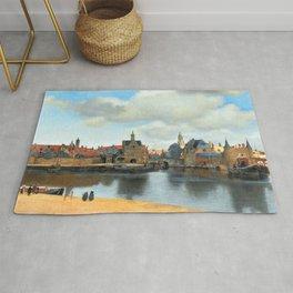 Johannes Vermeer View of Delft Rug