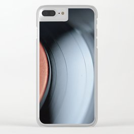 33&1/3-RPM Variant (Color) Clear iPhone Case