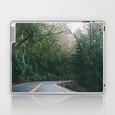 drive through the woods Laptop & iPad Skin