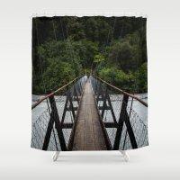 bridge Shower Curtains featuring Bridge by Michelle McConnell