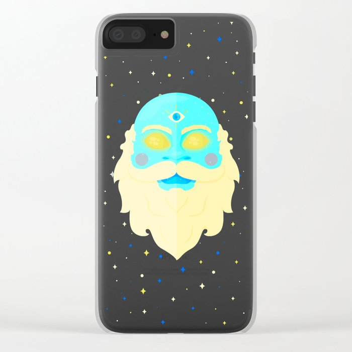 Santa Cosmos Clear iPhone Case