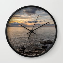 Sunset over the Ocean 7-21-18 Wall Clock