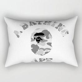 A Bathing Ape White Rectangular Pillow