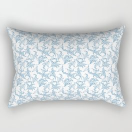 Vintage-style Lily-of-the-Valley Pattern Rectangular Pillow