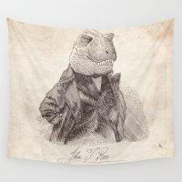 t rex Wall Tapestries featuring John T. Rex by Bouletcorp