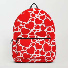 Red Hearts Pattern Backpack