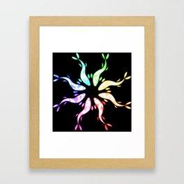 Rainbow kois Framed Art Print