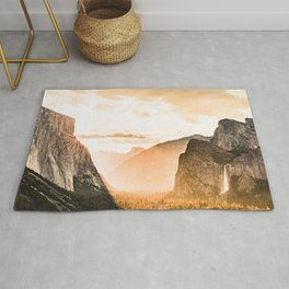 Yosemite Valley Burn - Sunrise Rug