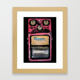 Ibanez AD-9 Analog Delay Guitar Pedal Acrylic Painting Framed Art Print