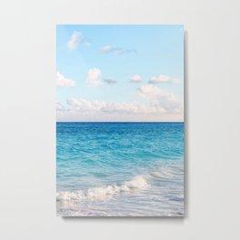 Ocean, Wave & Clouds Metal Print