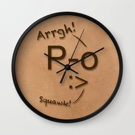 Pirates Have Emoticons, Too Wall Clock