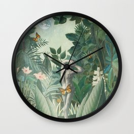 Planet Spring Vintage Collage Wall Clock