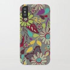 Large Bright Blooms iPhone X Slim Case