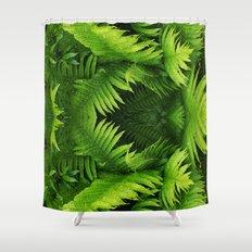 Fern world Shower Curtain
