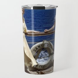 Two Ladies on an Ocean Cruise Travel Mug