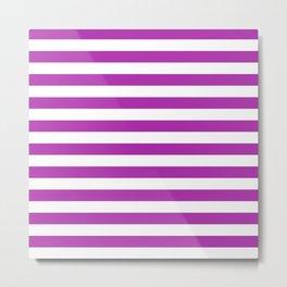Stripes (Purple & White Pattern) Metal Print