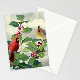 Cardinals on Tree Top Stationery Cards
