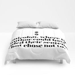 semicolon Comforters