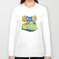 vw bus Long Sleeve T-shirts featuring VW Camper Drag Bus by VelocityGallery