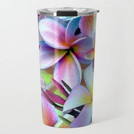 Rainbow Plumeria Travel Mug
