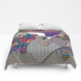 drippy internet Comforters