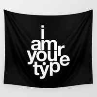 helvetica Wall Tapestries featuring HELVETICA! by THE USUAL DESIGNERS