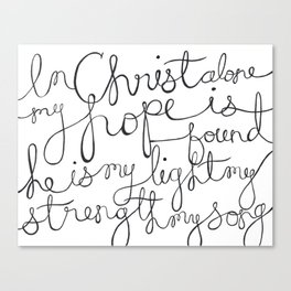 In Christ Alone Canvas Print