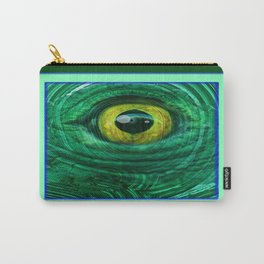 Mystic Golden Lizard Eye  In Green Teal-Malachite Carry-All Pouch