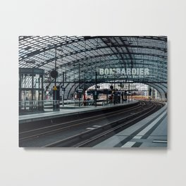 The train is coming Metal Print