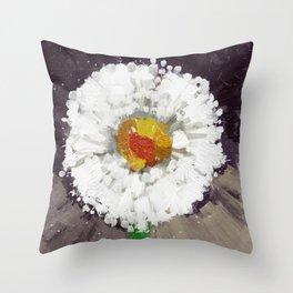 sporadic blooming Throw Pillow