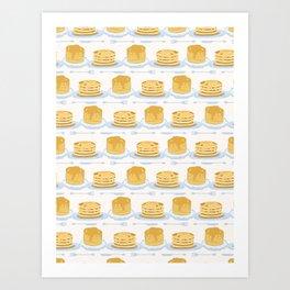 Cute vector homemade pancake day breakfast illustration Art Print