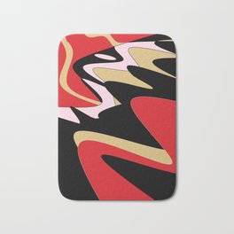 Snake Hill - Red and Black Bath Mat