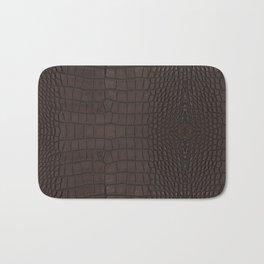 Alligator Brown Leather Print Bath Mat