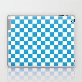Oktoberfest Bavarian Large Blue and White Checkerboard Laptop & iPad Skin