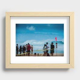 Pipemasters final day in Hawaii Recessed Framed Print