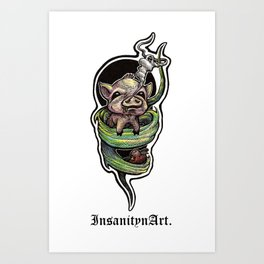 Insanity n Art's I Scream For Bacon. Art Print