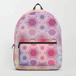 Hexagonal multicolor Backpack