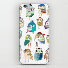 Owls, owl art, owl print, illustration, pattern, iPhone & iPod Skin