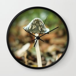A little Mushroom in the Forest   The Netherlands   Color Photography   Nature photography   Photo Print   Art Print Art Print Wall Clock