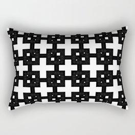 Telder Black & White Rectangular Pillow