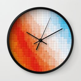Square Color Space Wall Clock