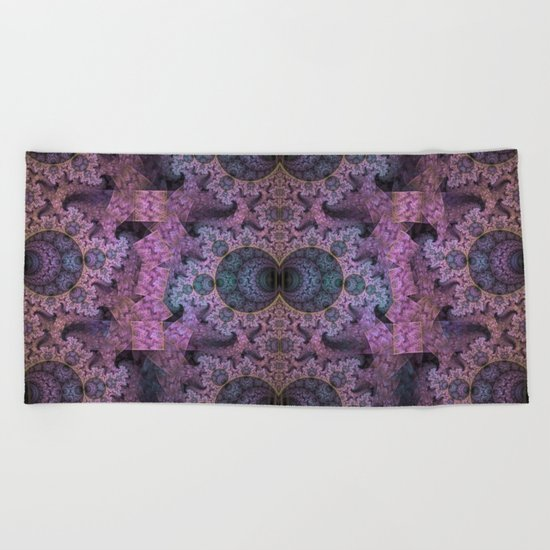 Unendless amazing patterns and balls Beach Towel