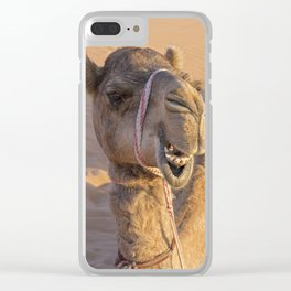 Camel with a funny facial expression Clear iPhone Case