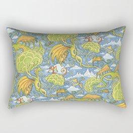 Tolkien Pattern - Dragons Rectangular Pillow