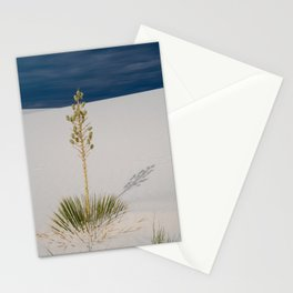 Soaptree Yucca plant in the desert of White Sands National Monument in New Mexico Stationery Cards