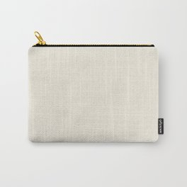 Dense Melange - White and Pearl Brown Carry-All Pouch