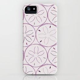 Sanddollar Pattern in Purple iPhone Case