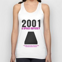 2001 a space odyssey Tank Tops featuring 2001: A Space Odyssey Movie Poster by FunnyFaceArt